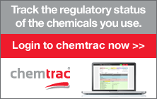 Track the regulatory status of the substances you use with chemtrac